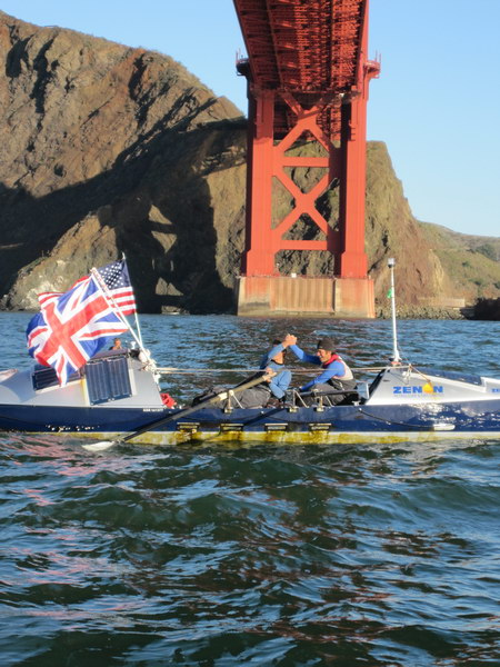 Bojangles completing North Pacific Ocean row